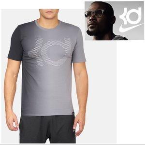 Nike DRI-FIT KD Graphic Tee Shirt Gray
